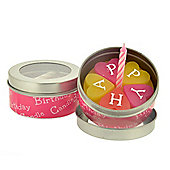 Novelty Heart Design 'Cake In a Tin' Birthday Candle Set