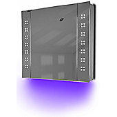 Ambient Bathroom Mirror Cabinet With Sensor & Internal Shaver Socket K19U
