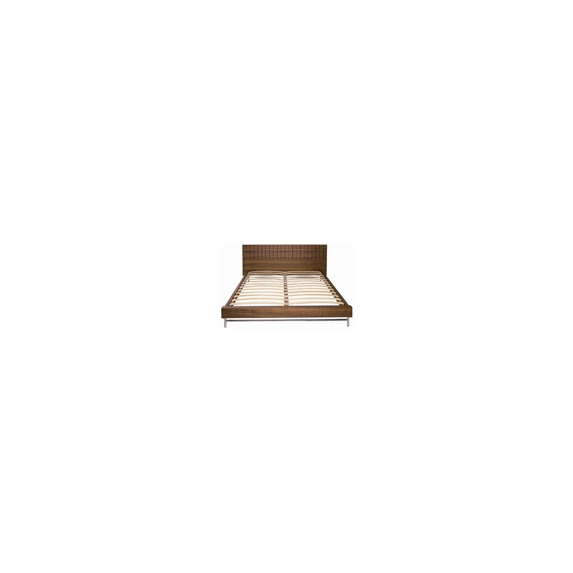 Gillmore Space Barcelona Bed - Double - Walnut at Tesco Direct
