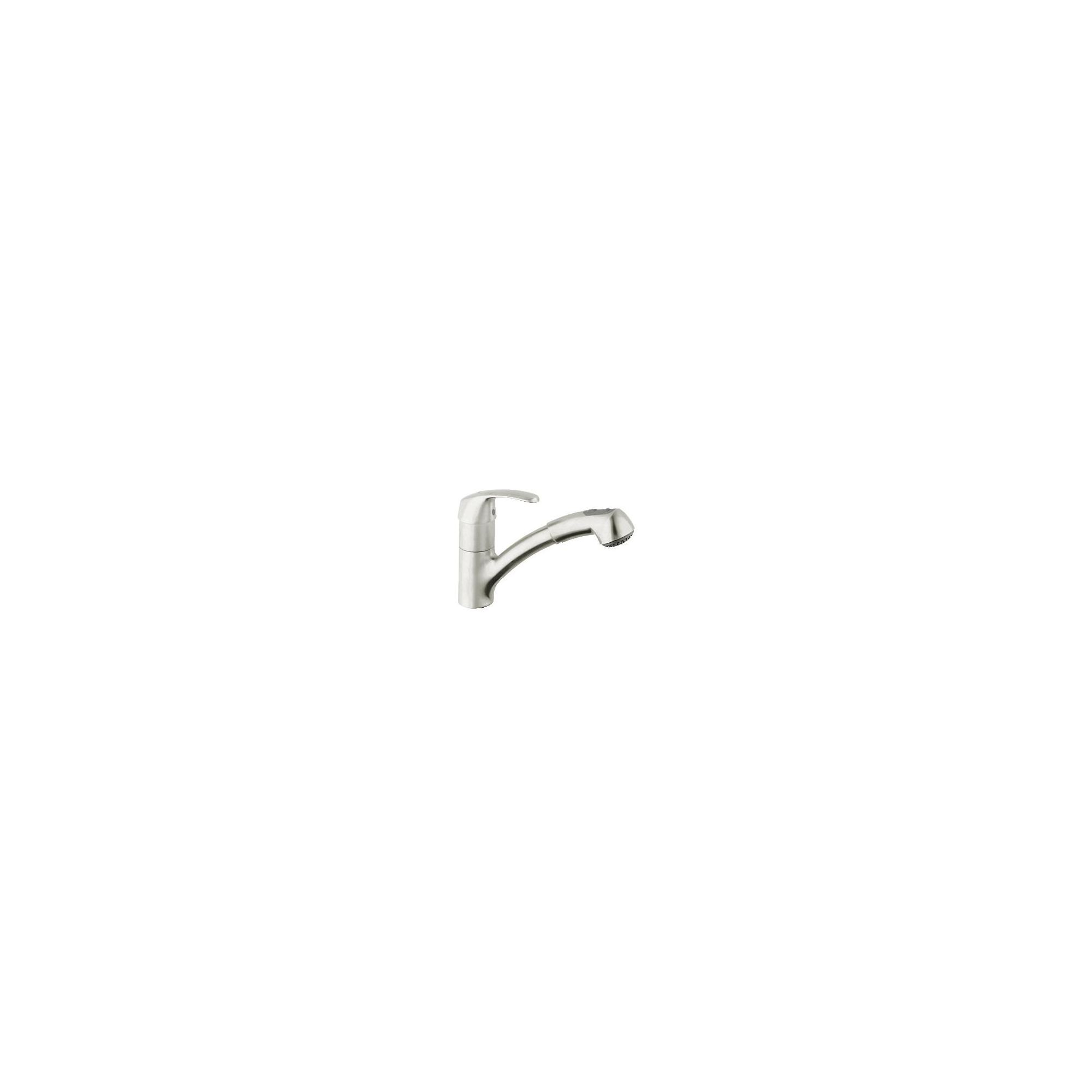 Grohe Alira Mono Sink Mixer Tap, Pull-Out Spray, Single Handle, RealSteel at Tesco Direct