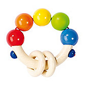 Heimess 734680 Wooden Elasticated Touch Ring Rattle (Rainbow)
