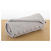 Baby Garter Stitch Blanket Grey