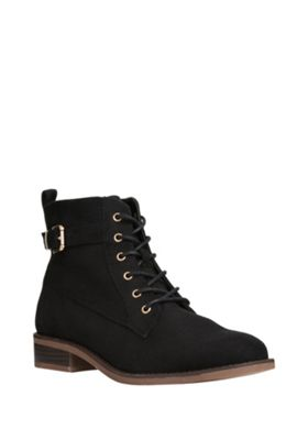 buy f f faux suede lace up ankle boots from our f f range