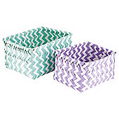 Tesco Chevron 2 Set Baskets