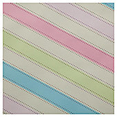 Cream Pink & Blue Block Stripe 2m Rollwrap