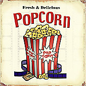 Fresh & Delicious Popcorn Tin Sign
