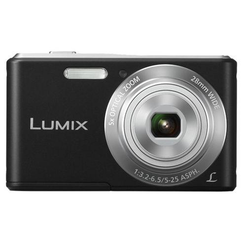 buy panasonic lumix dmc f5eb k digital black 14 1 mp 5x optical zoom 2 7 inch lcd from