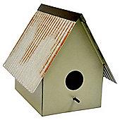 Small Metal Bird House, Green