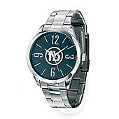 Men's Fred Bennett Blue Dial Steel Band Wrist Watch