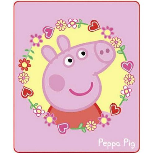 Peppa Pig Polka Dot Fleece Blanket