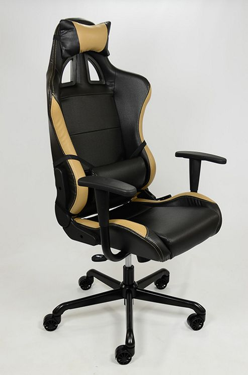 buy gtx racer office chair black beige from our office chairs range