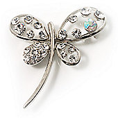 Stylish Crystal Butterfly Brooch