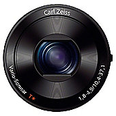 Sony QX100 Smart Lens Digital Camera, Black, 20.2MP, 3.6x Optical Zoom, iPhone/Android Smartphones,  Wi-Fi