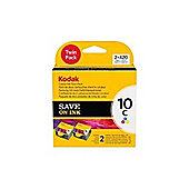 Kodak No.10 Colour Ink Cartridges (Cyan, Magenta, Yellow) - Twin Pack