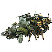 Forces Of Valor 81023 Us M3A1 Half Track D-Day 1:32 Diecast Model