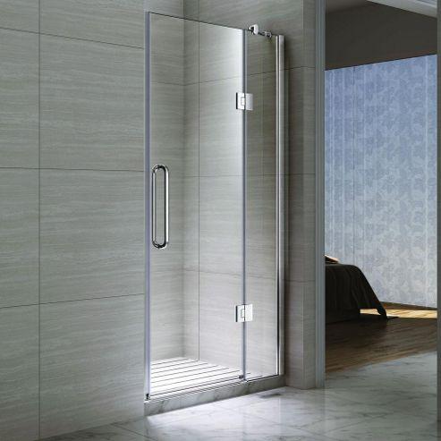 Buy desire ten inline hinged shower door 1200mm wide for 1200 shower door hinged