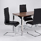 Home Zone Evolve Faux Leather Dining Chair in Black (set of 2)