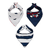 B Baby Newborn Boy's Fly With Me Bibs - 3 Pack