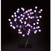 Snowtime S-Shape Globe Tree - Shocking Pink - 45 cm H