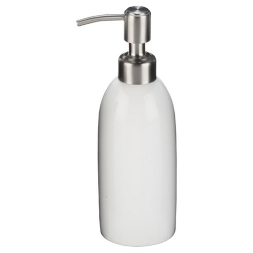 Tesco white ceramic soap dispenser