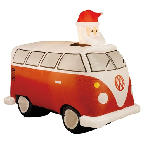 Festive Santa in his Camper Van Christmas Decoration