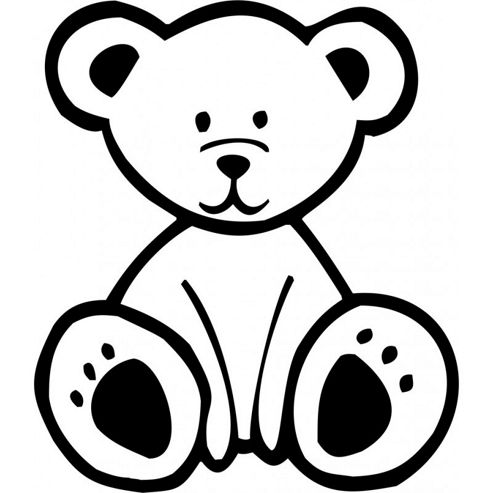 Bear Wall Sticker, Black