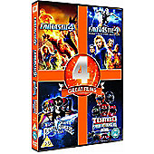 Power Rangers 1-2 / Fantastic Four 1-2 F(DVD Boxset)
