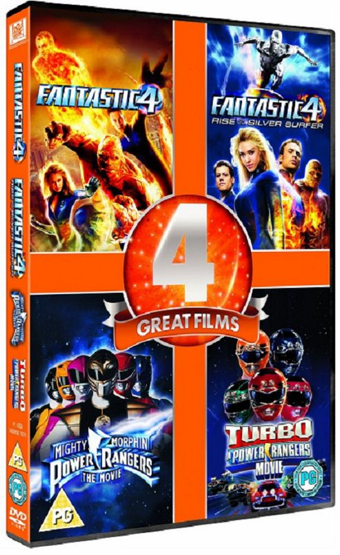 Power Rangers 1-2 / Fantastic Four 1-2 (DVD Boxset)