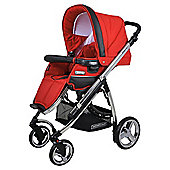 Bebecar Ip-Op Chrome Combination Pushchair, Rosso
