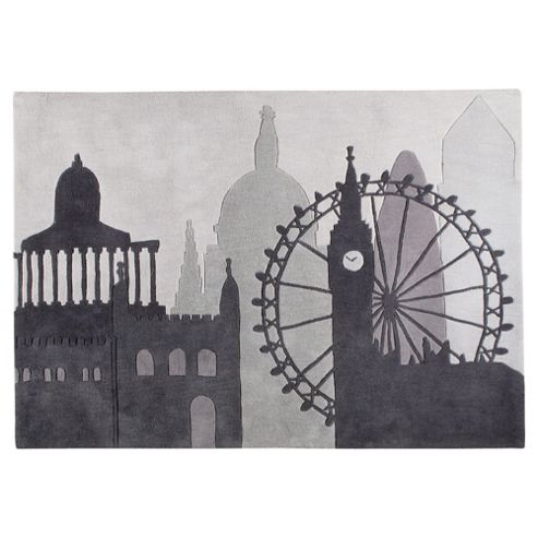BB Tesco Rugs London Skyline Rug 120x170cm