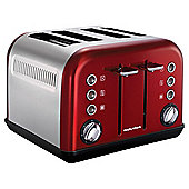Morphy Richards Accents 242004 4 Slice Toaster - Red