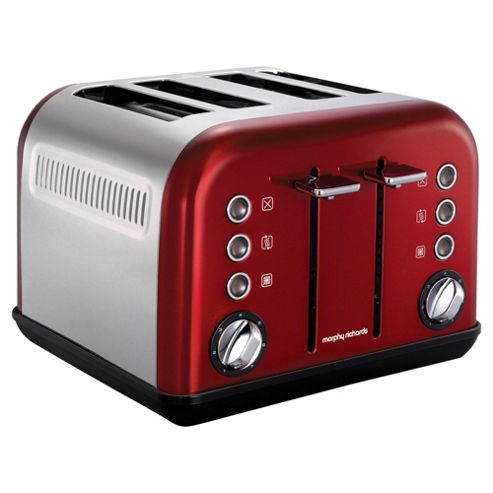 ... Accents 242004 4 Slice Toaster - Red from our Toasters range - Tesco