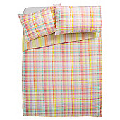 Tesco sherbet check duvet set  KS