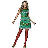 Ladies Christmas Tree Costume Small