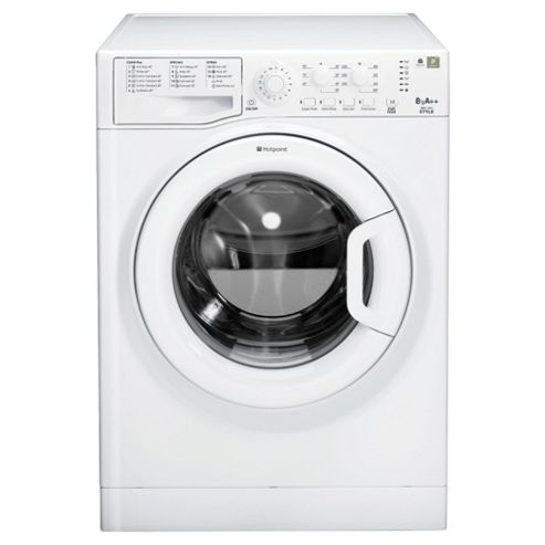 Hotpoint WMYL8552P Washing Machine, 8kg Wash Load, 1600 RPM Spin, A++ Energy Rating. White
