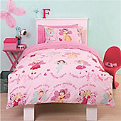 Dress Up Fairy, Girls Double Duvet with Pillowcases