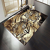 Element Wildlife Tigers Brown 160x220 cm Rug