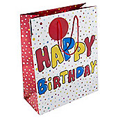 Happy Birthday Foil Bag Large