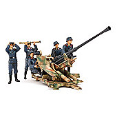 German 3.7cm Flak 37 Anti-Aircraft Gun With Crew - 1:35 Scale Military - Tamiya
