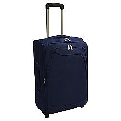 Tesco Soft Sided 2-Wheel Suitcase, Navy Blue Medium