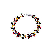 QP Jewellers 7.5in Citrine & Garnet Butterfly Bracelet in 14K White Gold