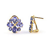 QP Jewellers 4.85ct Tanzanite Rafflesia Earrings in 14K Gold