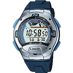 Casio Classic Mens Rubber Chronograph, Dual Time, Yacht Timer Watch W-753-2AVES