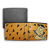 Hanna Barbera Cartoon Fred Flintstone Men's Leather look & Feel Wallet -