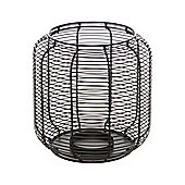 Linea Black Horizontal Wire Lantern