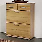 Posseik Meltona Shoe Storage - Heartwood Beech Imitation