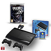 """PS3 12GB (CALL OF DUTY GHOSTS, PS PLUS 1YR, EXTRA CONTROLLER AND HDMI CABLE)"""