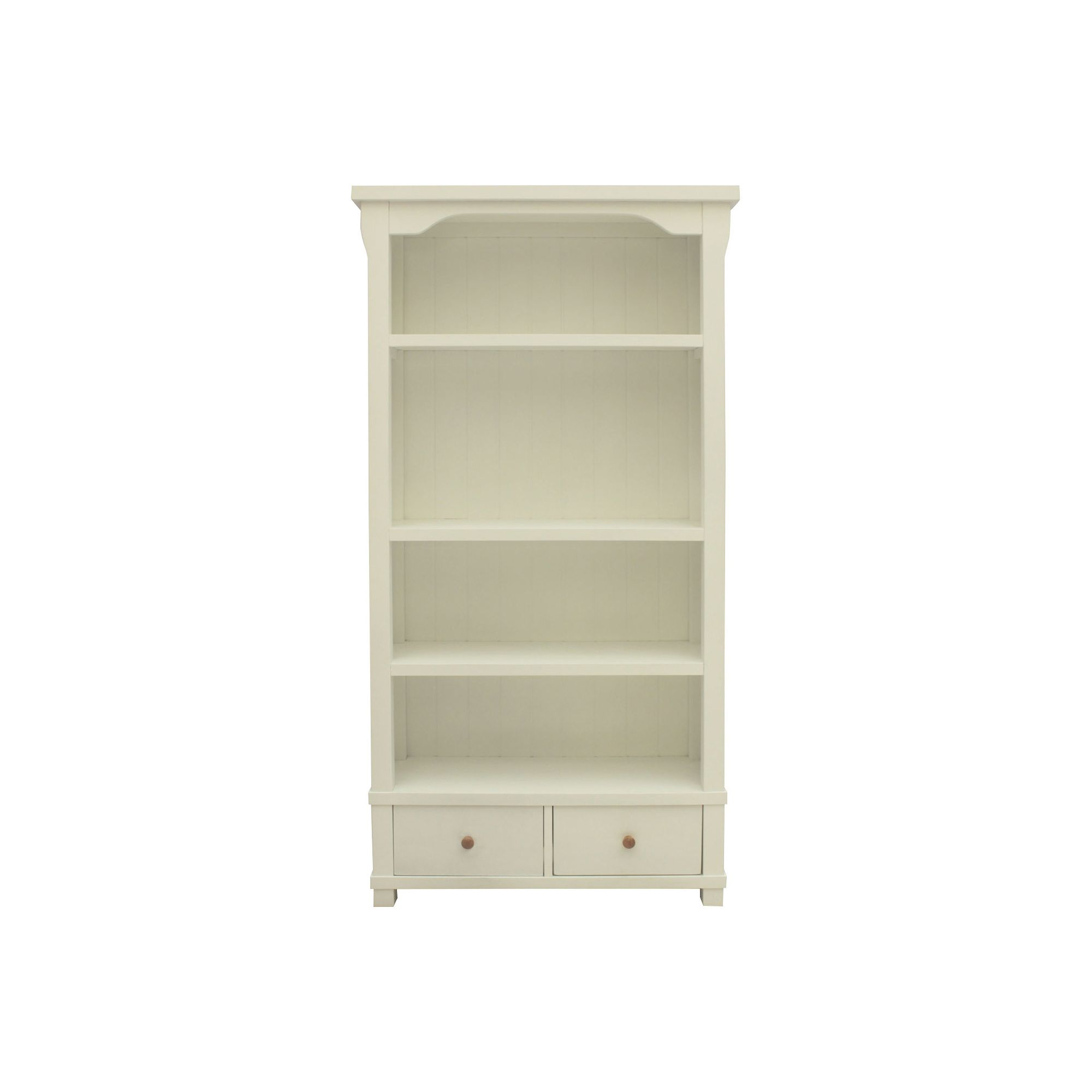 Baumhaus Hampton Large Bookcase with Two Drawers at Tesco Direct