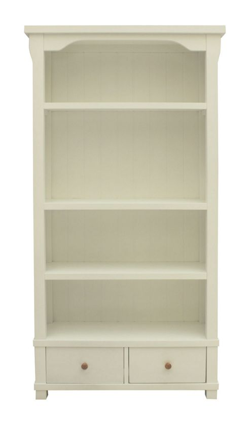 Baumhaus Hampton Large Bookcase with Two Drawers