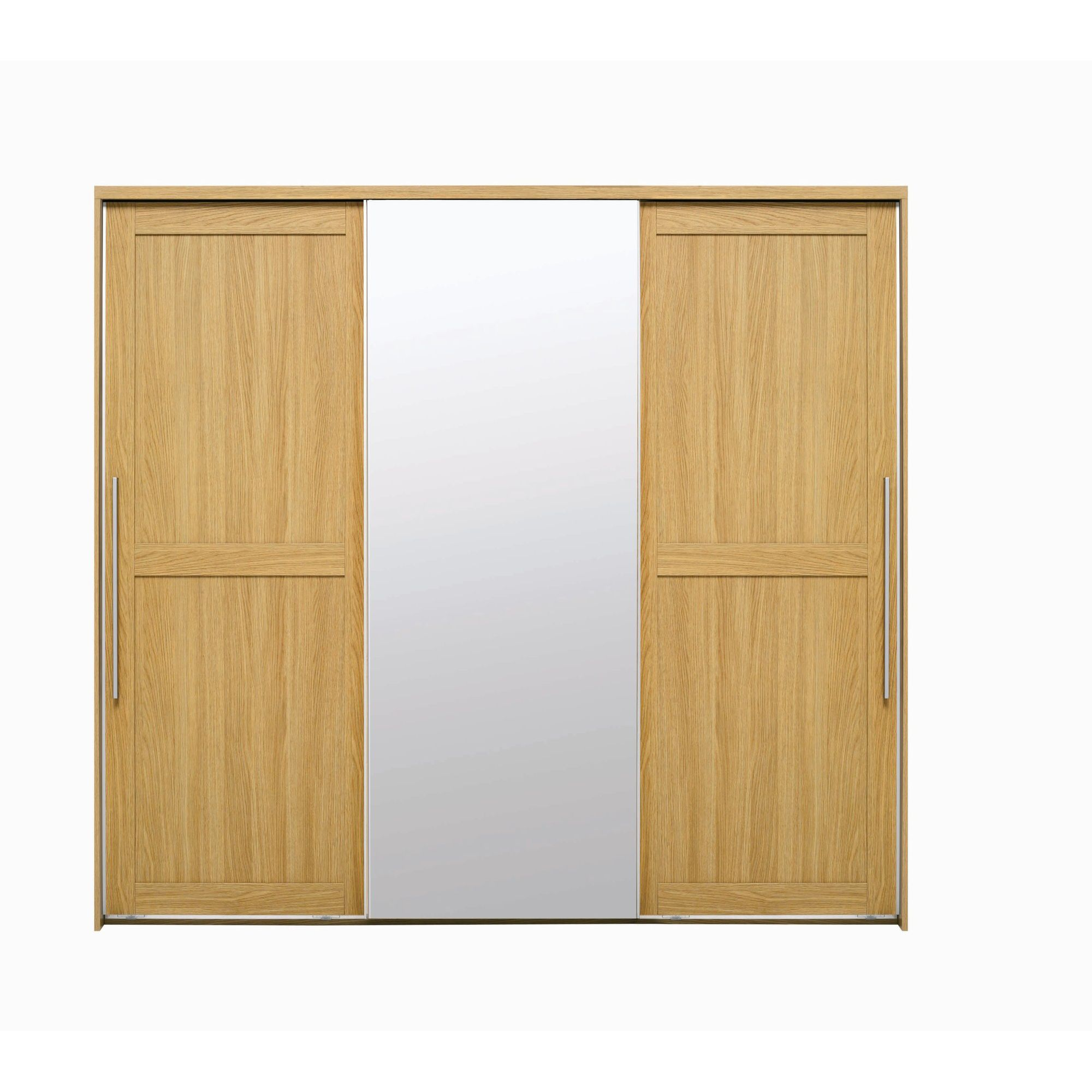 Caxton Melody 3 Door Mirrored Sliding Wardrobe in Natural Oak at Tesco Direct